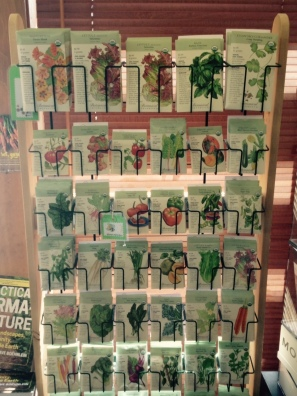 A wide range of organic seeds is available in the Arboretum Gift Shop.