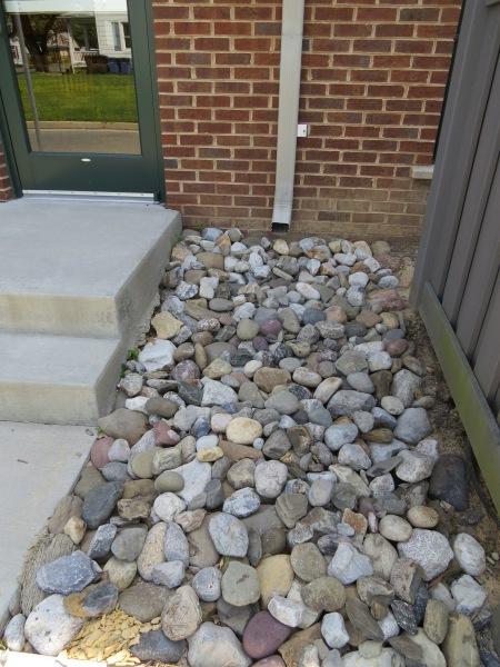 Brookletts rocks downspout